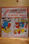 Disney table cloth with 6place mats
